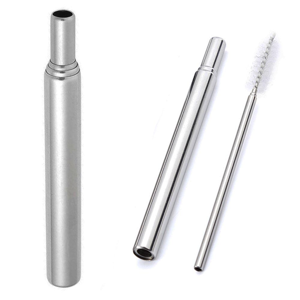 ЛУКС, ЕКО: Телескопична метална сламка, многократна употреба с четка за почистване и кутия