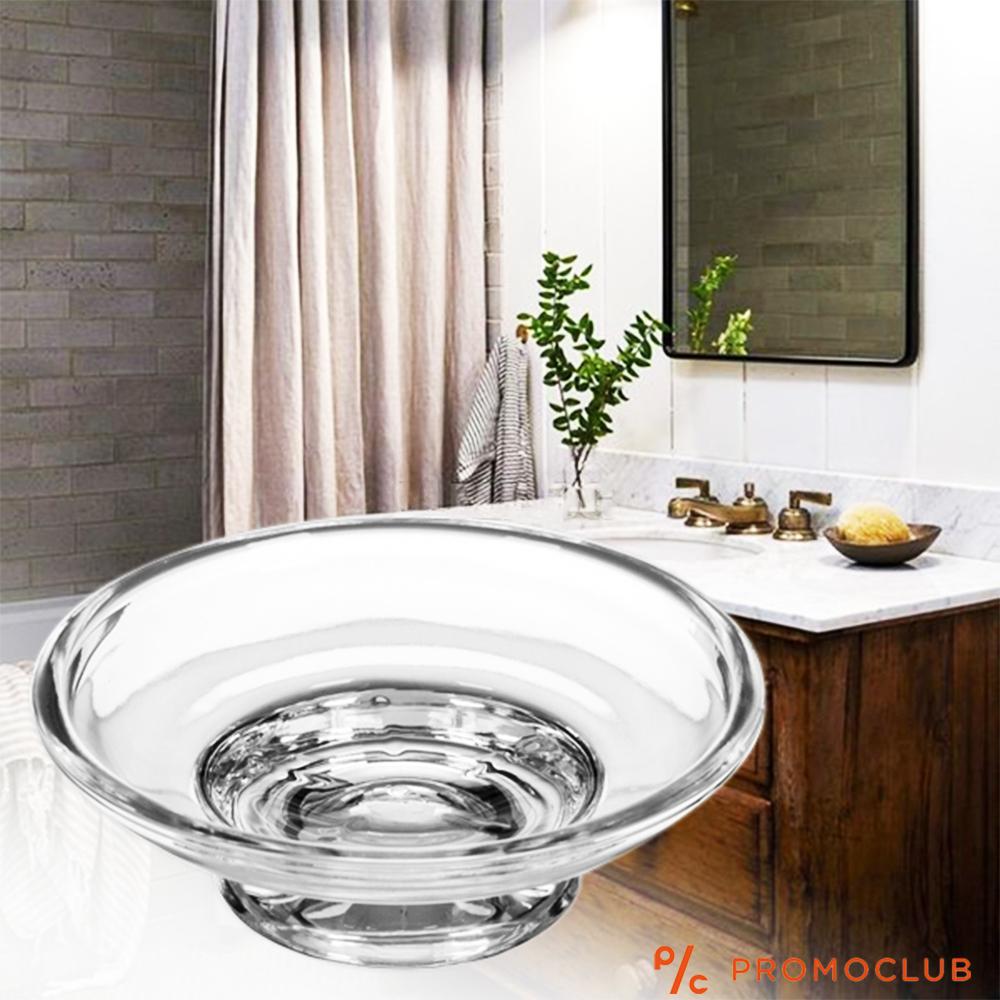 Луксозна кръгла сапунерка, стъкло,  самостояща и за окачване