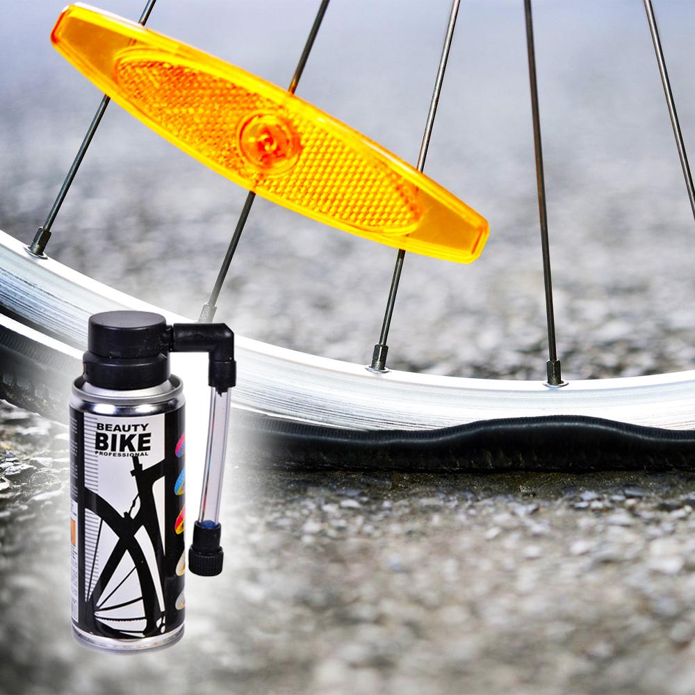 Бързодействащ спрей за спукани гуми на колело с ефективно действие, 100 мл
