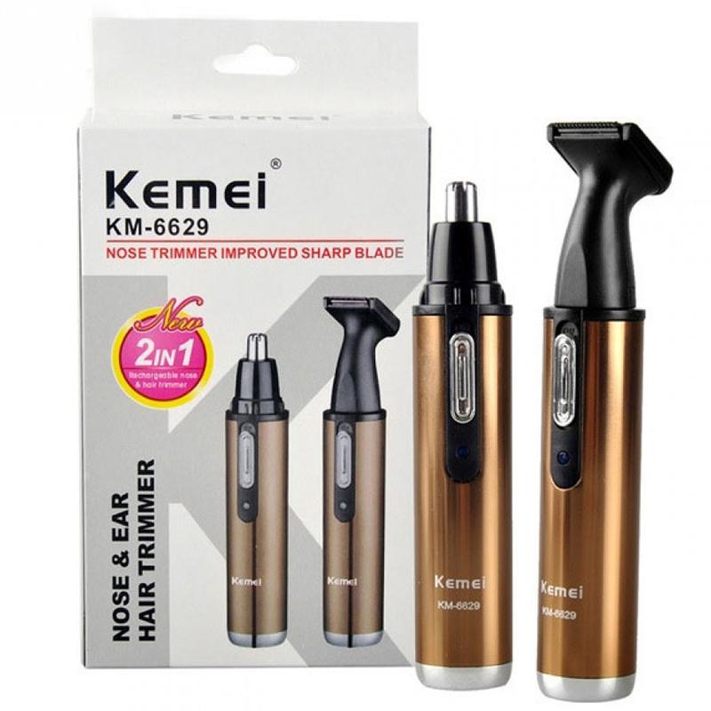 Прецизен акумулаторен тример KEMEI KM-6629 2в1 за стайлинг на лице, врат, нос, интим и др.