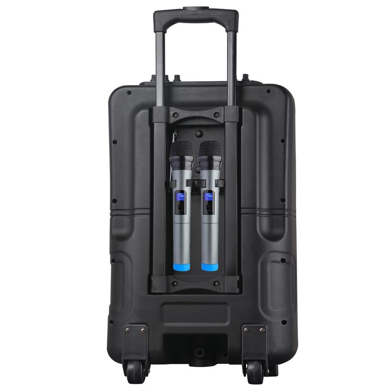Мощна мобилна активна караоке тонколона 12 инча MBA SA8908 с  голям 15 инчов LCD дисплей
