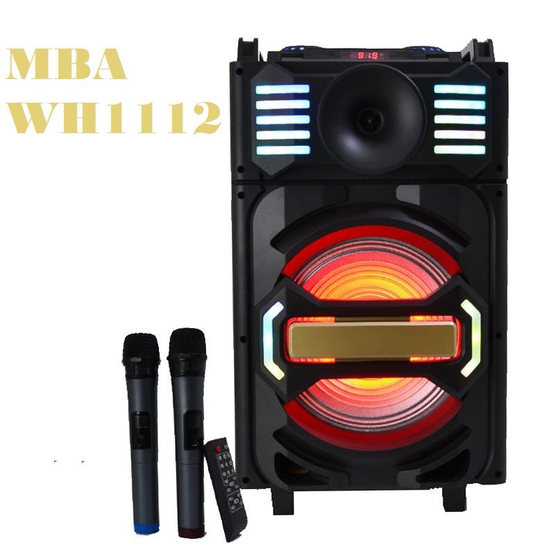 Активна караоке тонколона 12 инча MBA WH1112  330W, RMS 150W, диско LED светлини