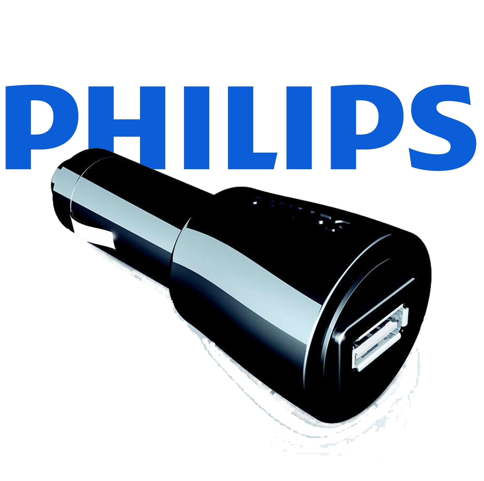 Най-сигурният USB автоадаптер PHILIPS SCM2180 12-24V, сертифициран и за APPLE