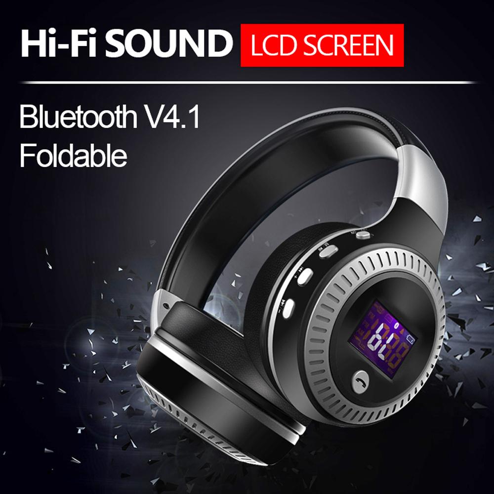 Нов модел блутудни MP3 радио слушалки ZEALOT B19 с LCD дисплей, FM радио и microSD слот