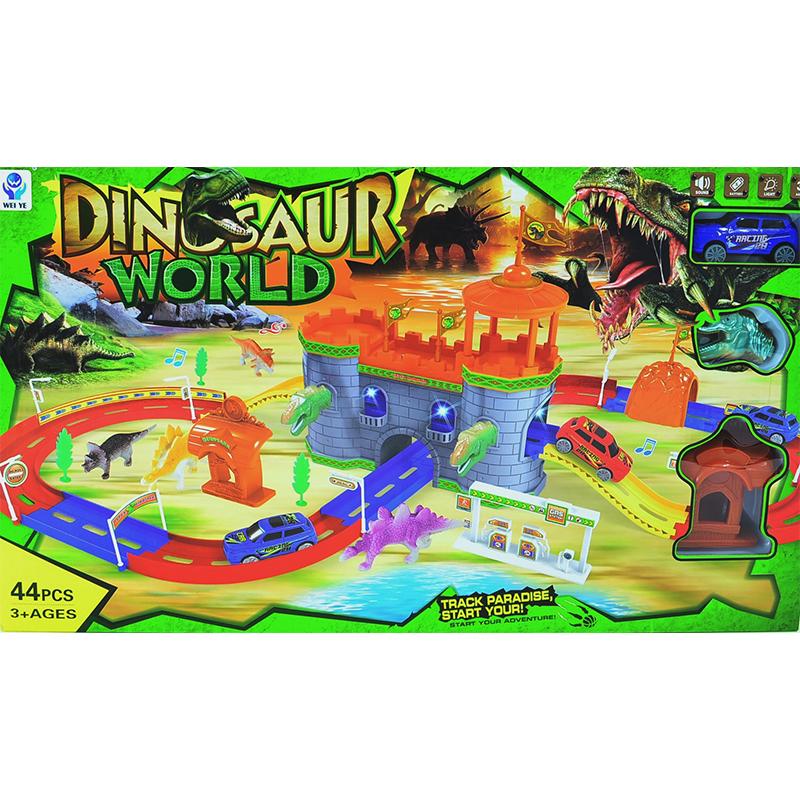 Атраквна детска настолна игра дино свят, 44 части, 3+