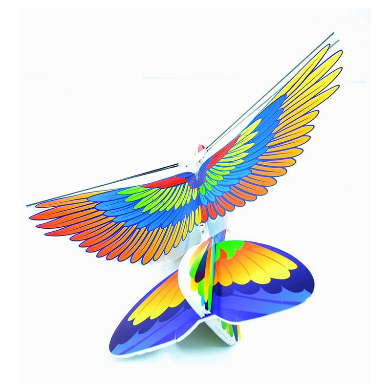 Електронен летящ папагал с USB зареждане, 3+