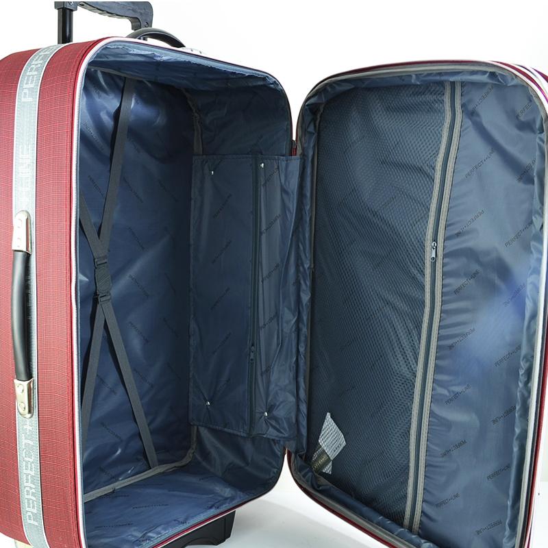 ЛИКВИДАЦИЯ: 3 разширяващи се куфара 1319, твърд гръб, вграден механизъм, Г3 PL Мaroon RED