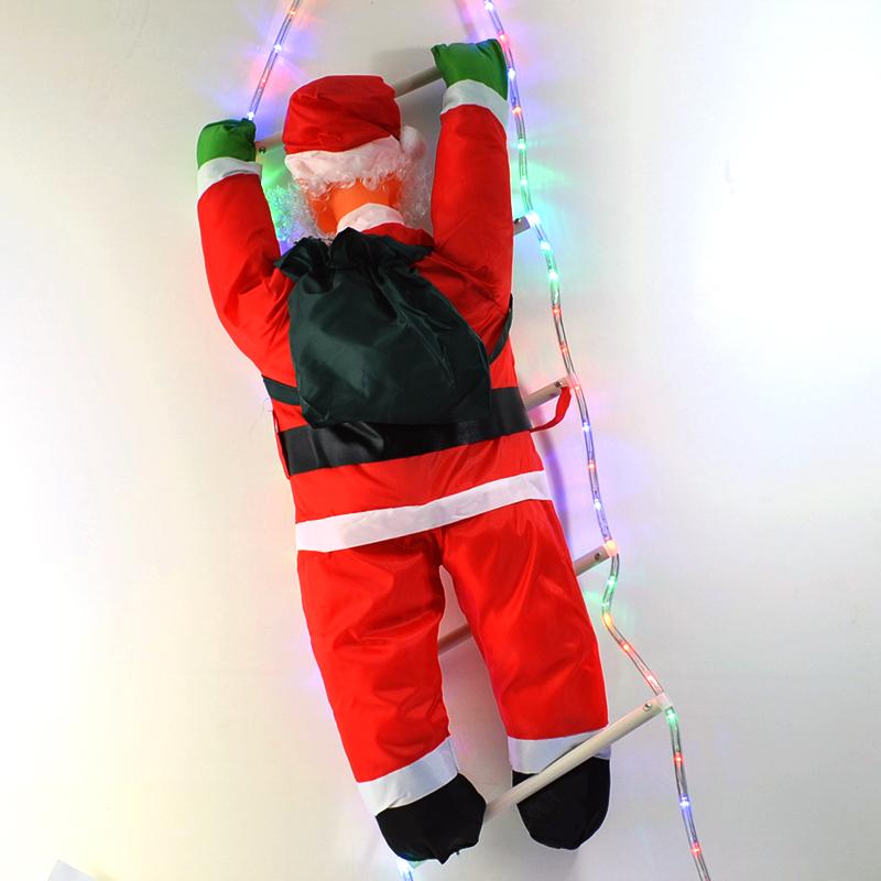 Катерещ се Дядо Коледа по LED светеща стълба - 10-282