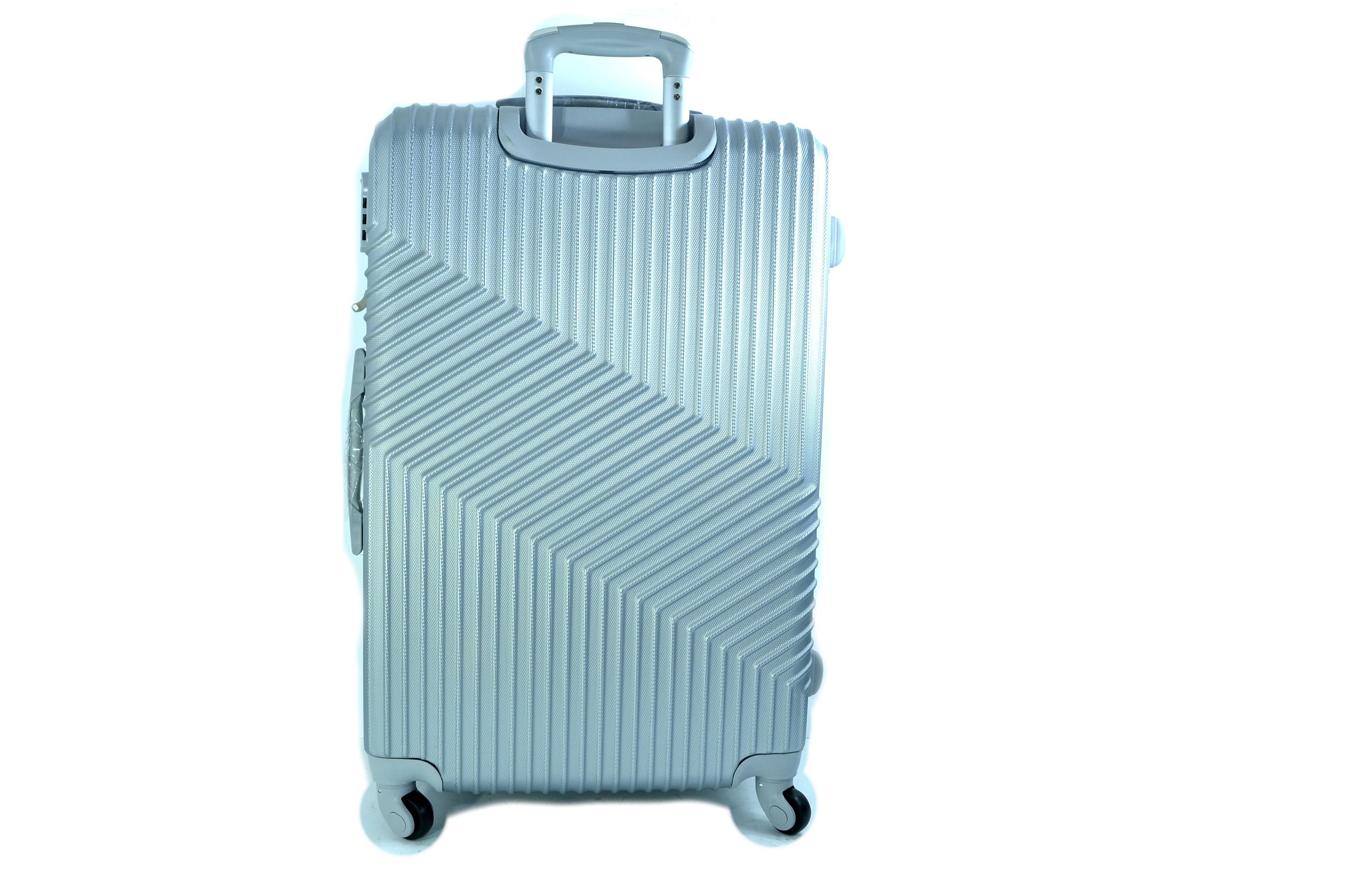 Луксозен комплект от 3бр.пътнически куфари ABS-8021 Сребро