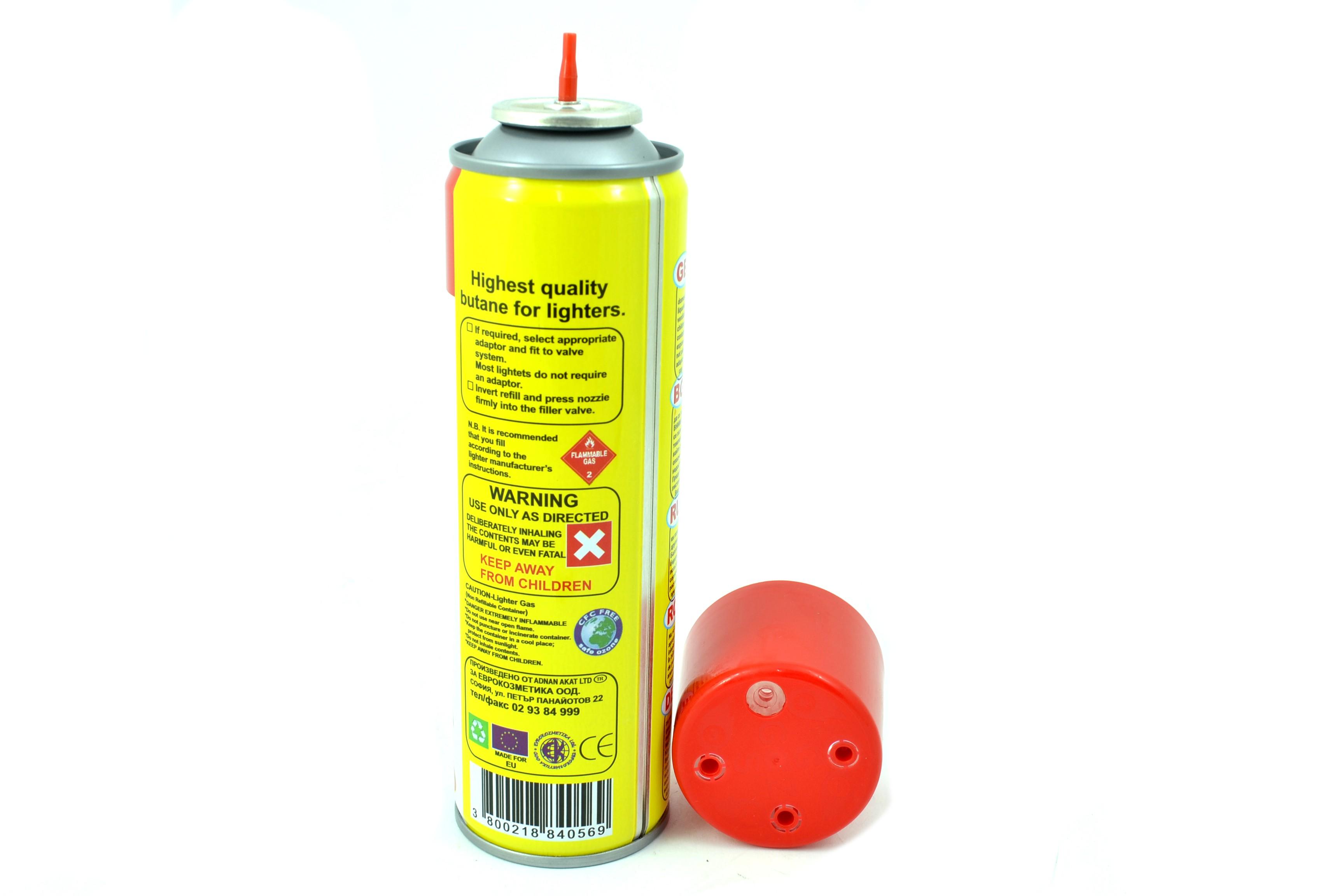 Висококачествена газ за запалки EURO GAZ 250мл.