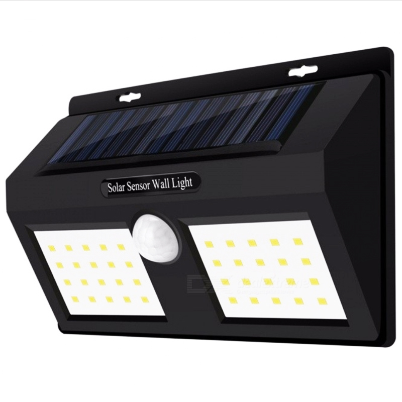 Двойна автономна соларна LED лапма 1626 с вградени батерии