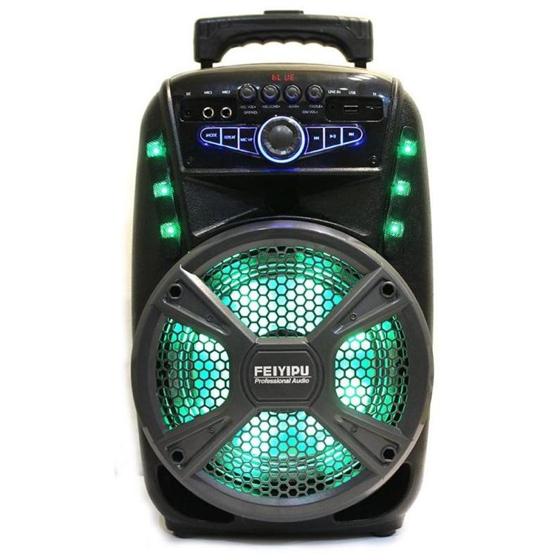 Компактна активна акумулаторна караоке система FEIYIPU ES-81 8 inch, 300W max, 1 микрофон