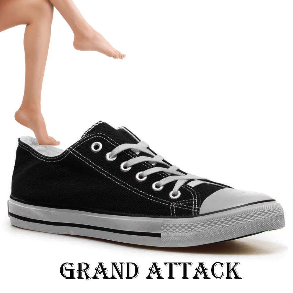 Дамски спортни обувки Grand Attack 30234-1 Black, чифт чорапи - ПОДАРЪК