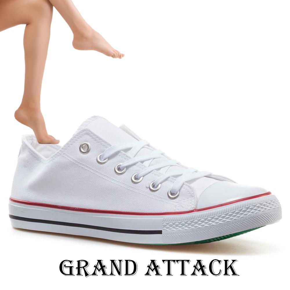 Дамски спортни обувки Grand Attack 30234-2 White, чифт чорапи - ПОДАРЪК