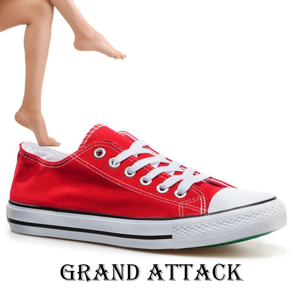 Дамски спортни обувки Grand Attack 30234-3 Red, чифт чорапи - ПОДАРЪК
