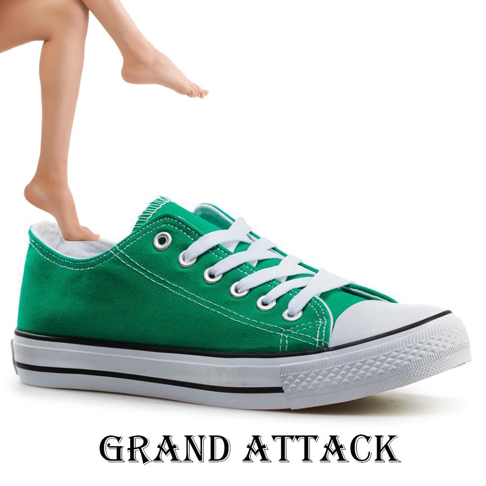 Дамски спортни обувки Grand Attack 30234-4 Green, чифт чорапи - ПОДАРЪK
