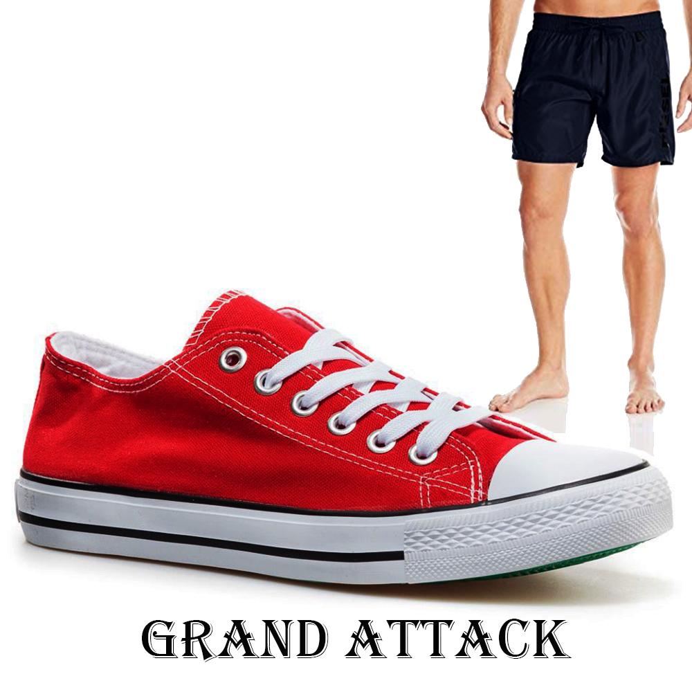 Мъжки спортни обувки Grand Attack 30236-3 Red, чифт чорапи - ПОДАРЪК