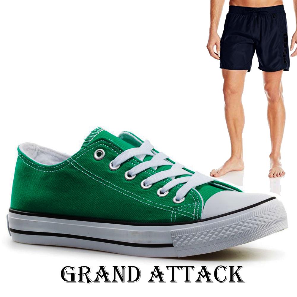 Мъжки спортни обувки Grand Attack 30236-4 Green, чифт чорапи - ПОДАРЪК