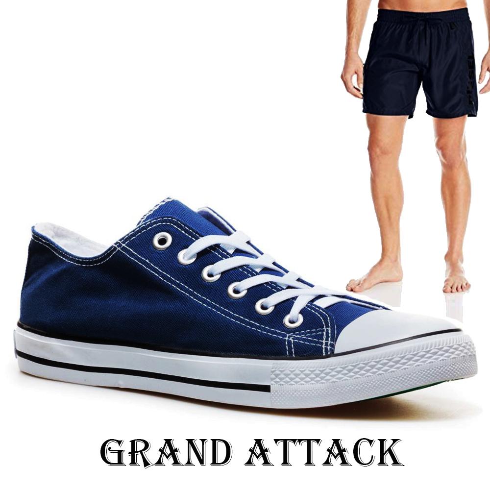 Мъжки спортни обувки Grand Attack 30236-5 Blue, чифт чорапи - ПОДАРЪК