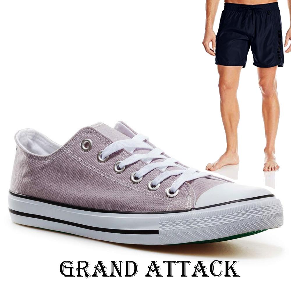 Мъжки спортни обувки Grand Attack 30236-7 Grey, чифт чорапи - ПОДАРЪК