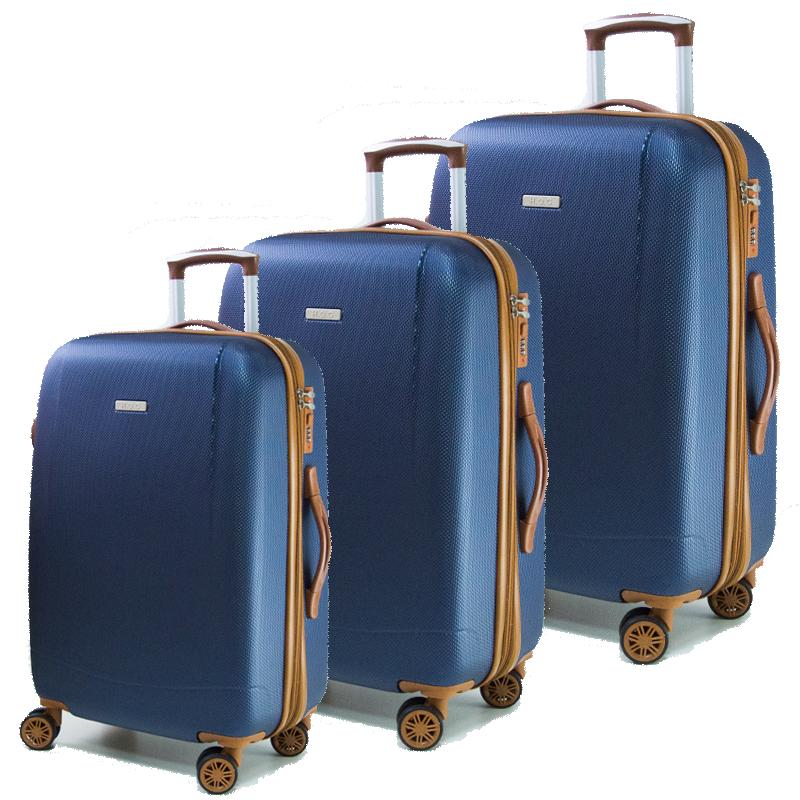 Най-висок клас комплект разширяващи се авио куфари Royal Generation 1619 BLUE, ABS