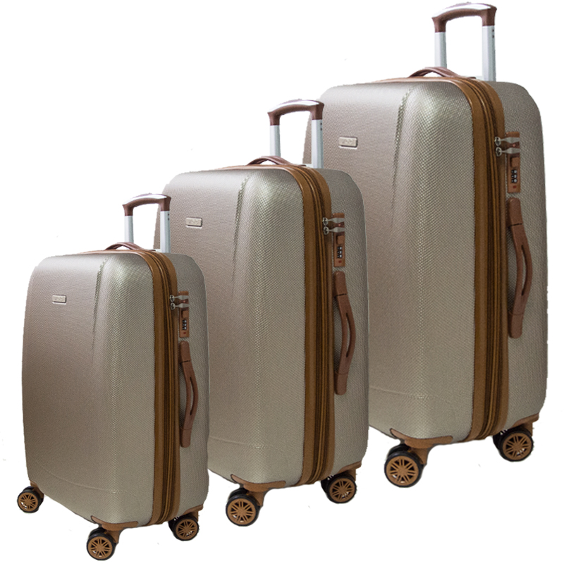 Най-висок клас комплект разширяващи се авио куфари Royal Generation 1619 CHAMPAGNE, ABS
