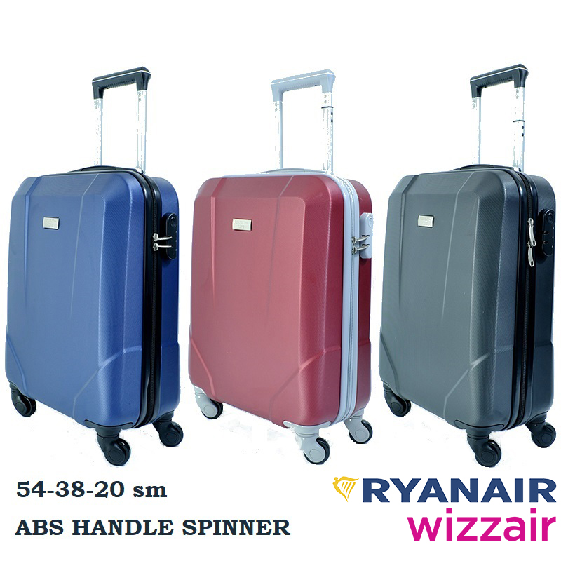 BUSINESS LINE ABS-твърд спинър 2.5 кг за ръчен багаж PERFECT++ за RAYANAIR и WIZZAIR 8067