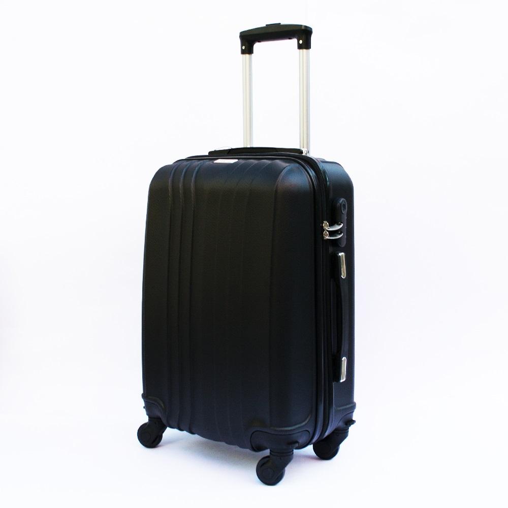 Ново поколение ръчен куфар - спинър със свалящи се колела TRANSIT J01 BLACK, ABS