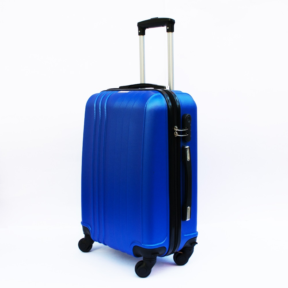Ново поколение ръчен куфар - спинър със свалящи се колела TRANSIT J01 BLUE, ABS