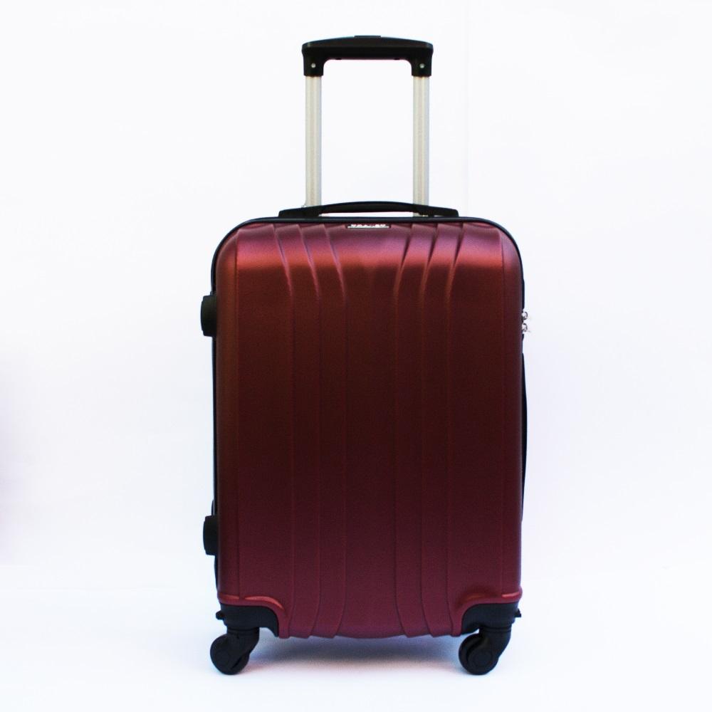 Ново поколение ръчен куфар - спинър със свалящи се колела TRANSIT J01 BORDEAUX, ABS