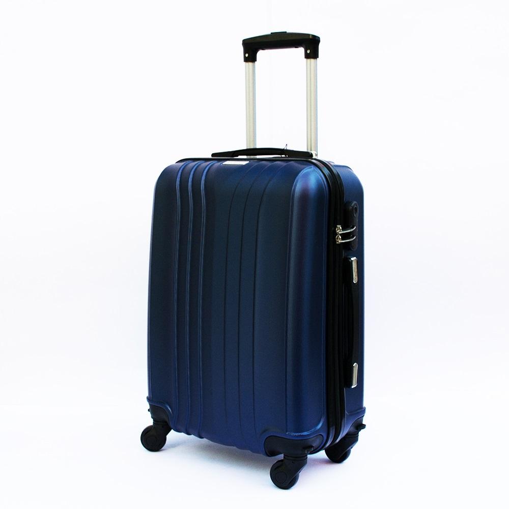 Ново поколение ръчен куфар - спинър със свалящи се колела TRANSIT J01 DARK BLUE, ABS