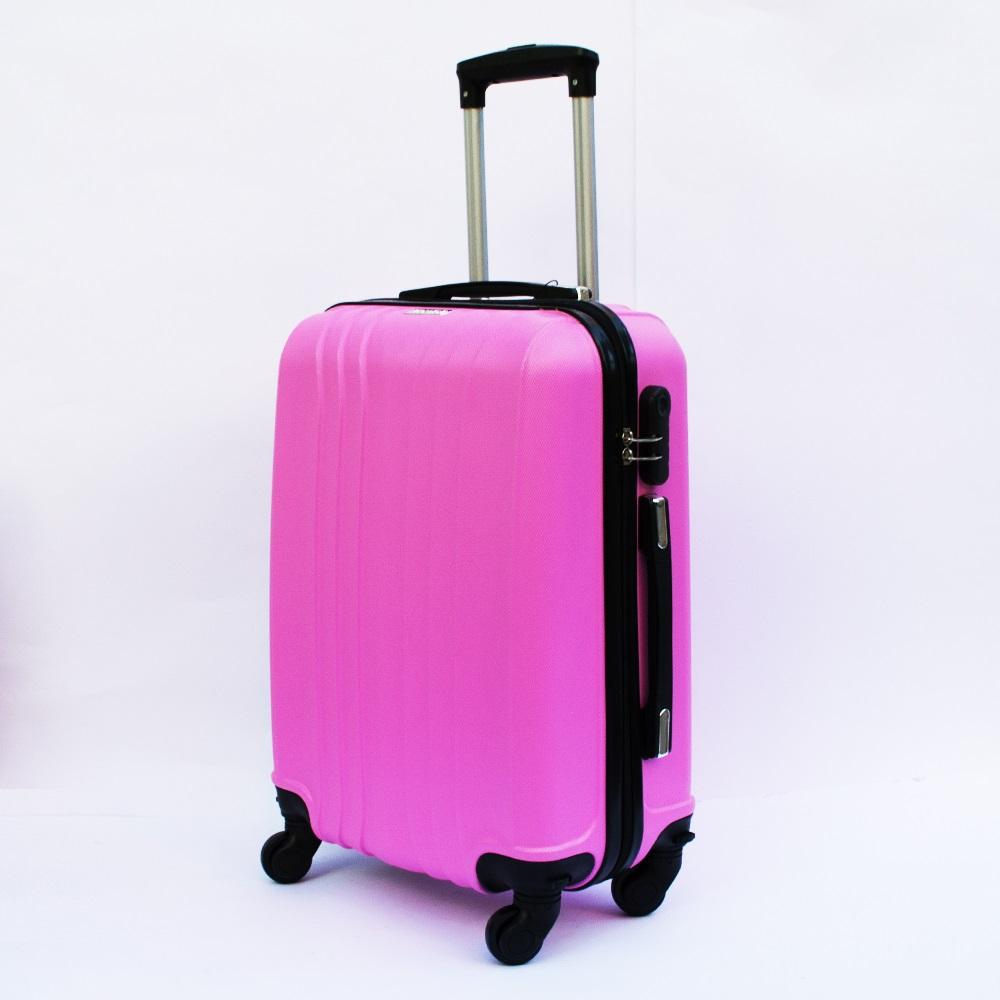 Ново поколение ръчен куфар - спинър със свалящи се колела TRANSIT J01 PINK, ABS