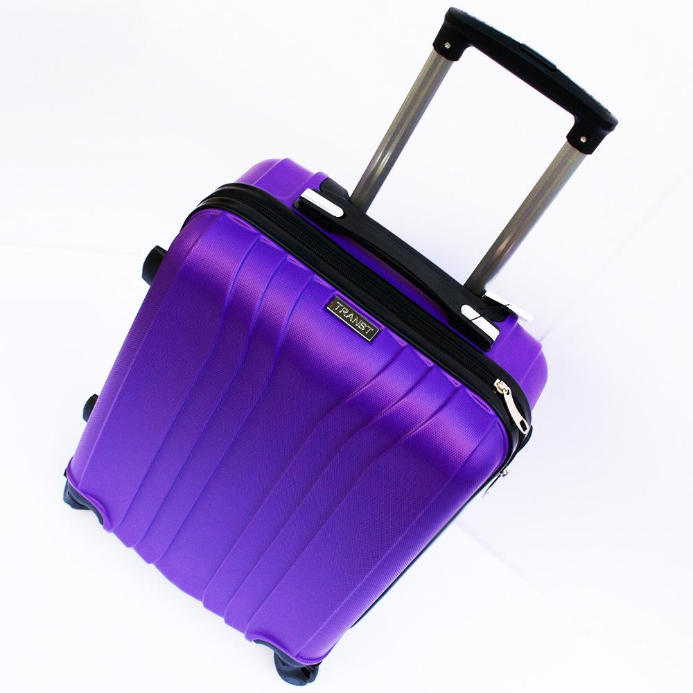 Ново поколение ръчен куфар - спинър със свалящи се колела TRANSIT J01 PURPLE, ABS