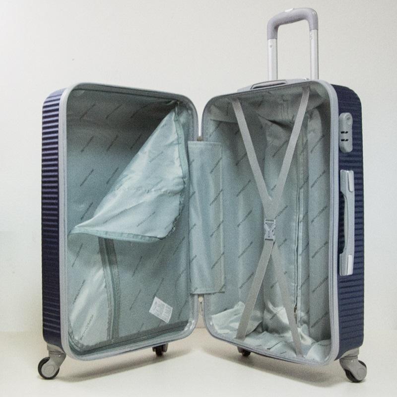 ЛИКВИДАЦИЯ: комплект 3 броя ABS куфари ART GALERY PICASSO 8080,  скрит механизъм,  BLUE
