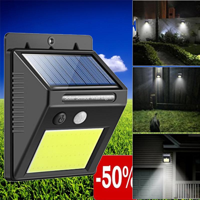 Автономна соларна LED лампа с датчик за движение и вградена батерия