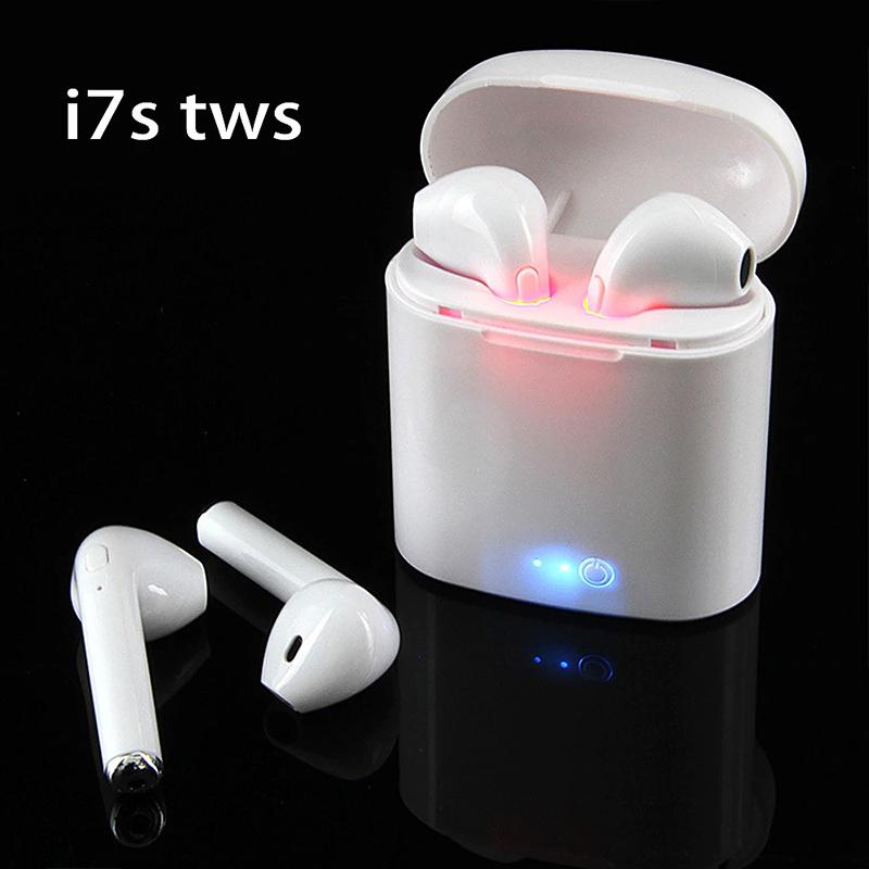 Ново поколение WIRELESS HANDS- FREE с BLUETOOTH i7 2 броя слушалки със зареждаща кутия