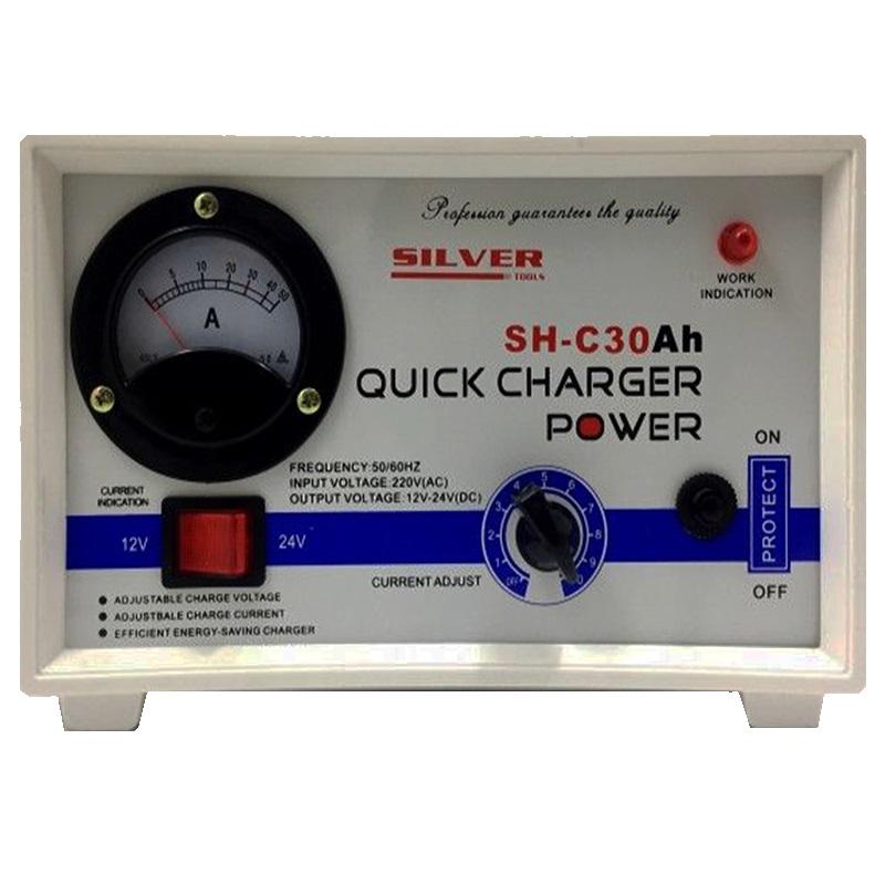 Професионален уред А2006 за качествено зареждане на акумулатори 30А 12V/24V, авто зарядно