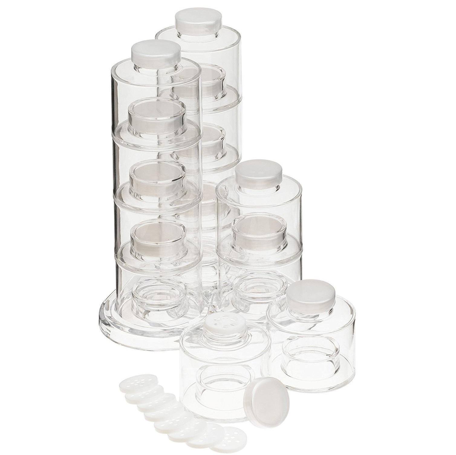 Уникален комплект солници Spice Tower за всичките ви подправки  - 12 броя