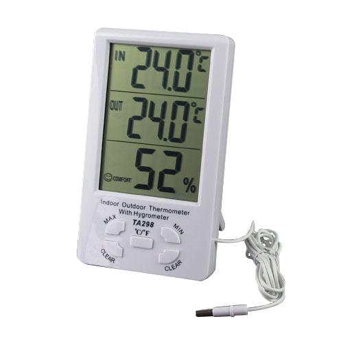 Термометър, Хидрометър и часовник 3 в 1 - модел: TA298
