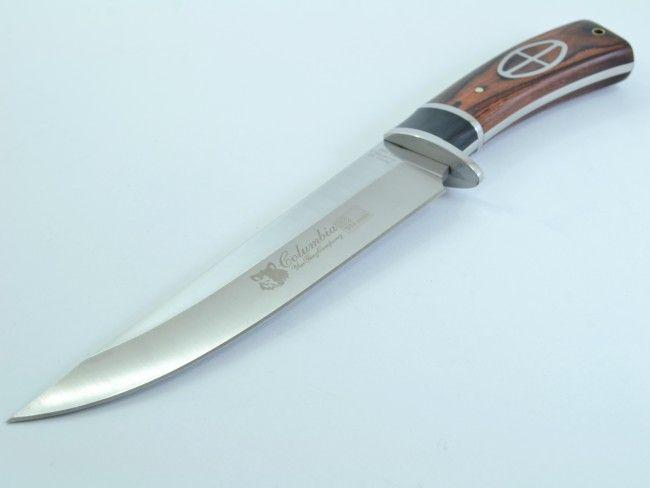 Американски ловен нож COLUMBIA G02 USA с широко острие и двукомпонентна дървена дръжка