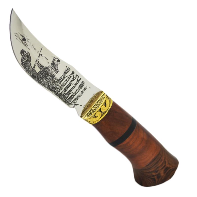 Ловен нож ОХОТНИК 1020, гравирано острие