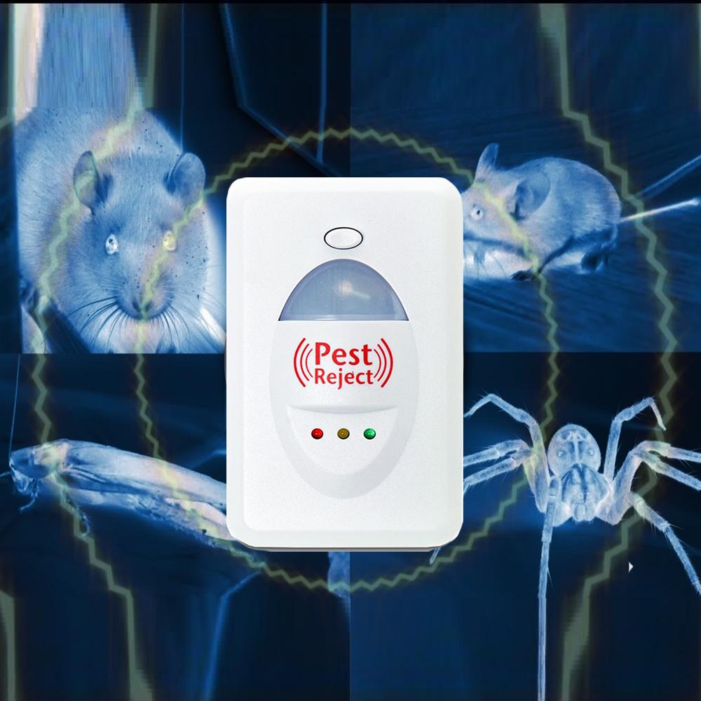Мощен електромагнитен уред Pest Reject защитава до 200 кв.м от гризачи, насекоми и комари