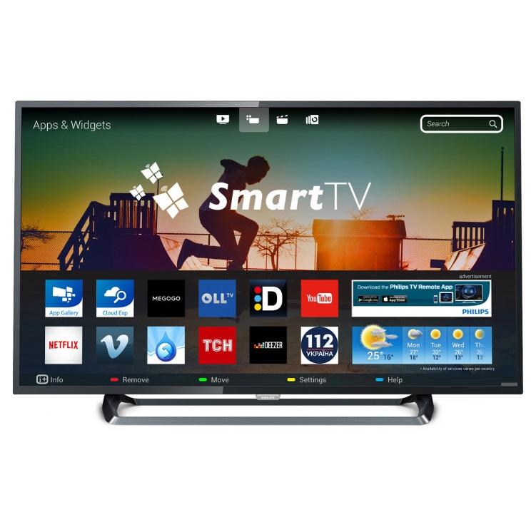 Ултра тънък 4К SMART LED телевизор PHILIPS 43PUS6262/12 43 инча/ 108 см