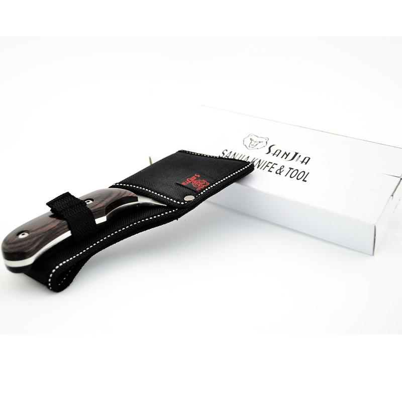 Компактен класен сатър с кания за колан SANJIA KNIFE&TOOLS K-87 COMPACT