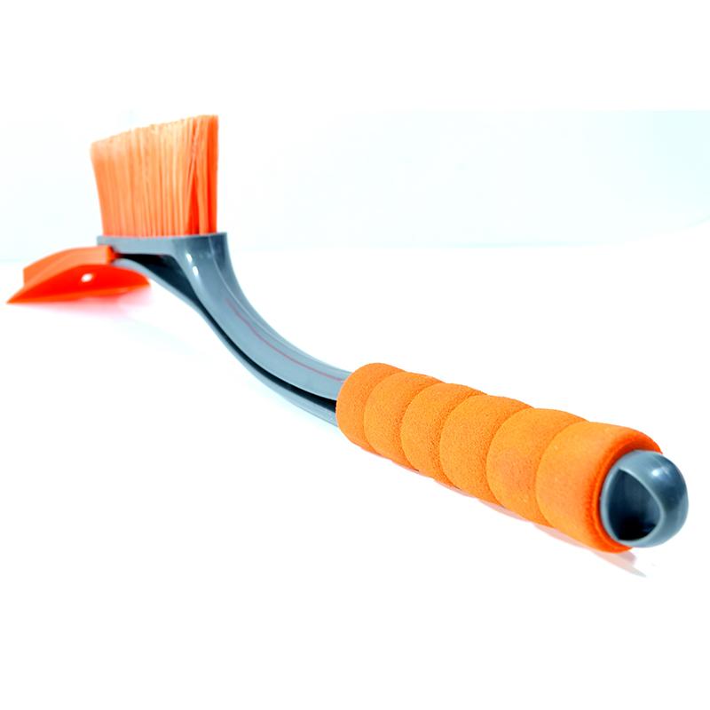 Комбинирана 2 в 1 авто къртачка за лед и метла за сняг - Orange 5446-3467