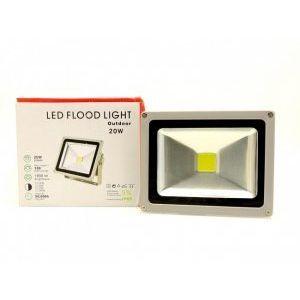 20W LED прожектор за външен монтаж, слим дизайн, черен цвят