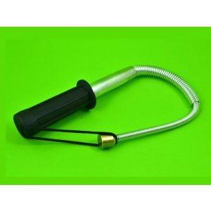 ЕЛАСТИЧНА телескопична полицейска палка за самозащита - сребриста с черен, платнен калъф