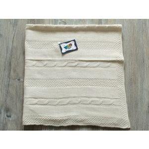 Топло антиалергично плетено бебешко одеяло Yo Yo Kids 90 х 90 см- БЕЖОВО, 696