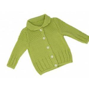 Плетена топла и мека зимна бебешка жилетка - в различни цветове, 0-3 месеца