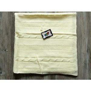 Топло антиалергично плетено бебешко одеяло Yo Yo Kids 90 х 90 см- ЕКРЮ, 718